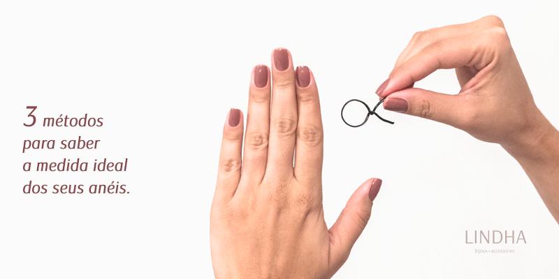 19dbaff9f Como medir o tamanho do anel  - Lindha