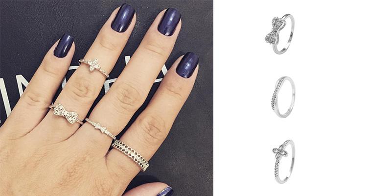 Skinny rings: anéis para combinar e usar em todos os dedos.