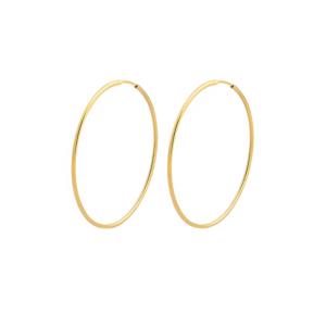 Brinco Argola 5 cm Prata + Ouro