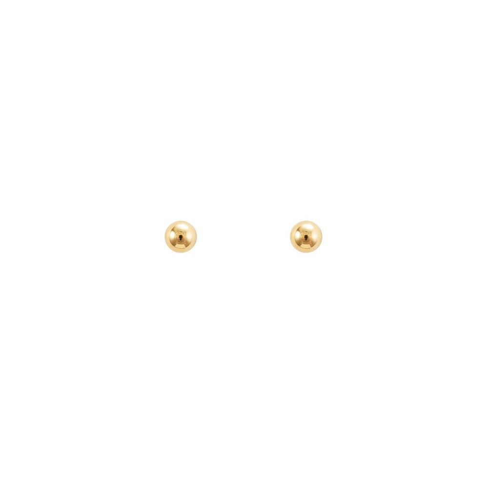 Brinco Bola 4 mm Dourada - Lindha d83ae7d9bc