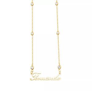 Colar Personalizado Tiffany Prata 925 c/ Banho Ouro 18k