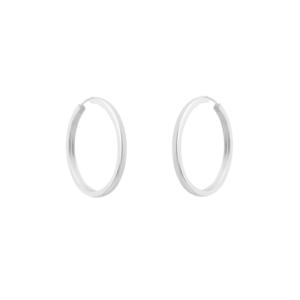 Brinco Argola Prata Pura 3,5 cm
