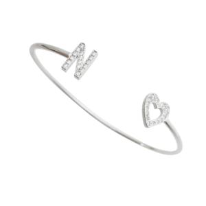 Bracelete c/ Inicial Prata 925