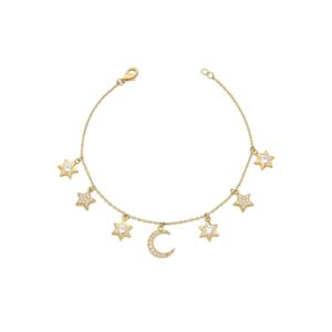 Pulseira Lua e Estrelas
